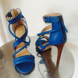Joe's Blue Strappy Leather Sandal